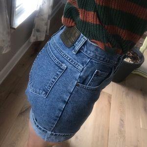 St. John's Bay | Vintage High Waisted Jean Shorts